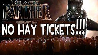 Sin entradas para ver BLACK PANTHER el día del estreno!!! Exitazo de MARVEL en USA!