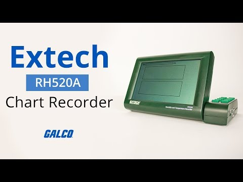 Extech's RH520A Temperature And Humidity Chart Recorder