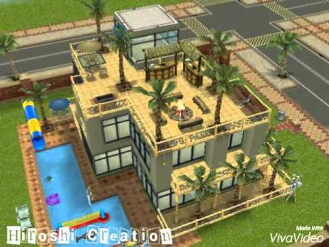The SimsFreeplay - House Idea ( bachelor pad ) - YouTube