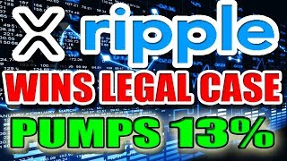 Ripple (XRP) WINS Legal Battle, but the Legal War isn't over. Ripple (XRP) PUMPS 13%
