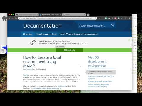 Install Drupal 8 on MAMP using composer thumbnail