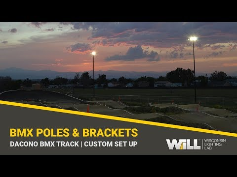 Dacono BMX | Round Tapered Steel Light Poles & Custom Fabricated Brackets