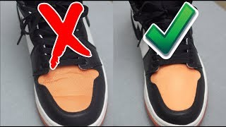 How To Remove Creases on Jordan 1