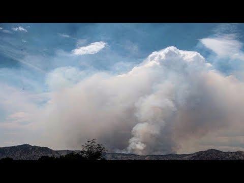 Museum Fire Climbing Over Mount Elden In Flagstaff, AZ