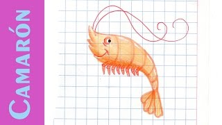 Como dibujar Un CAMARÓN GAMBA How to draw a Shrimp ANIMALES MARINOS Acuáticos Mar Tutorial ILUSTRA S