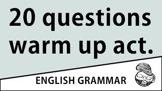 For teachers - 20 questions (warm up)