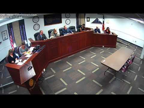Brazos County Commissioners Court 05-08-18