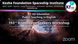 Video 193rd Knowledge Seekers Workshop - Thursday, October 12, 2017 download MP3, 3GP, MP4, WEBM, AVI, FLV Desember 2017