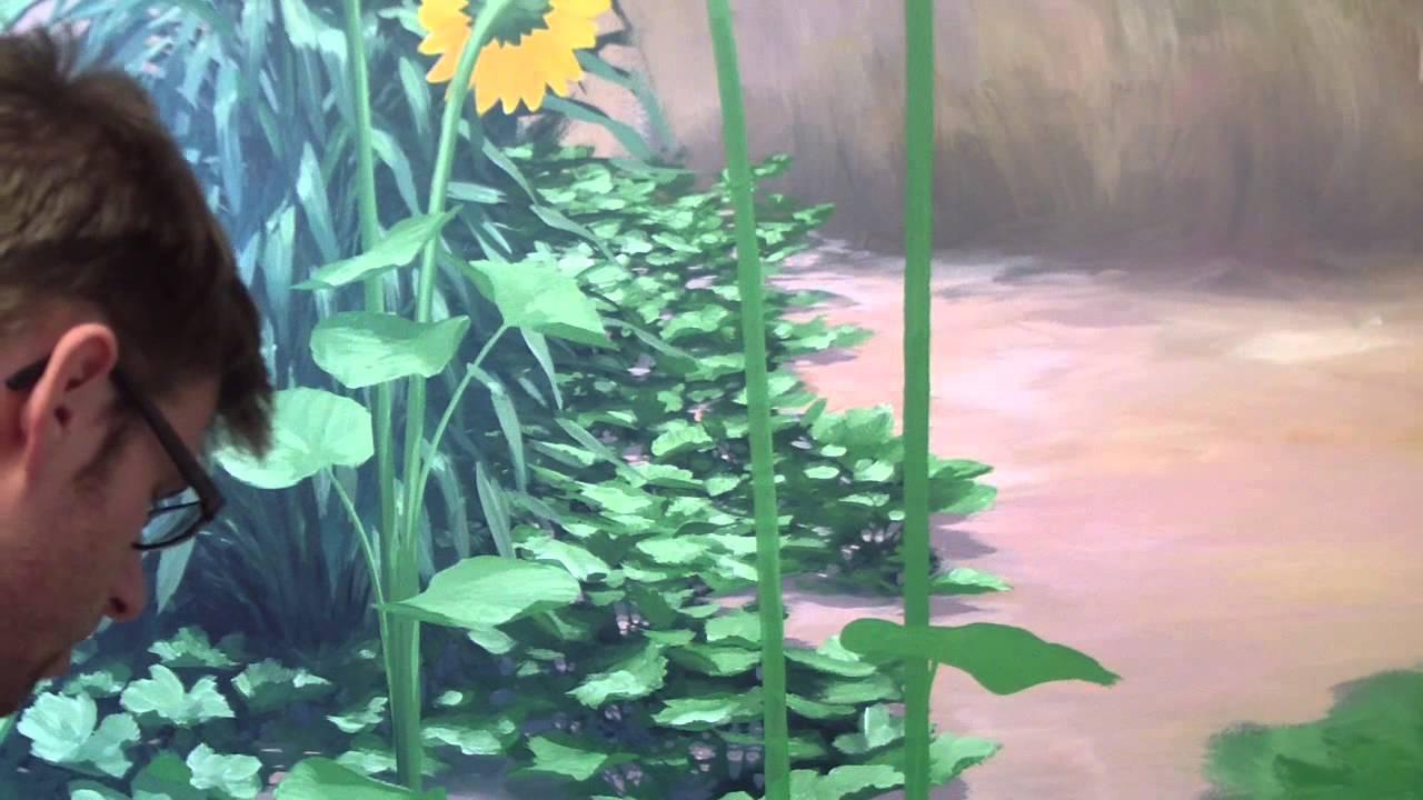 How to paint Foliage  Mural Joe  YouTube