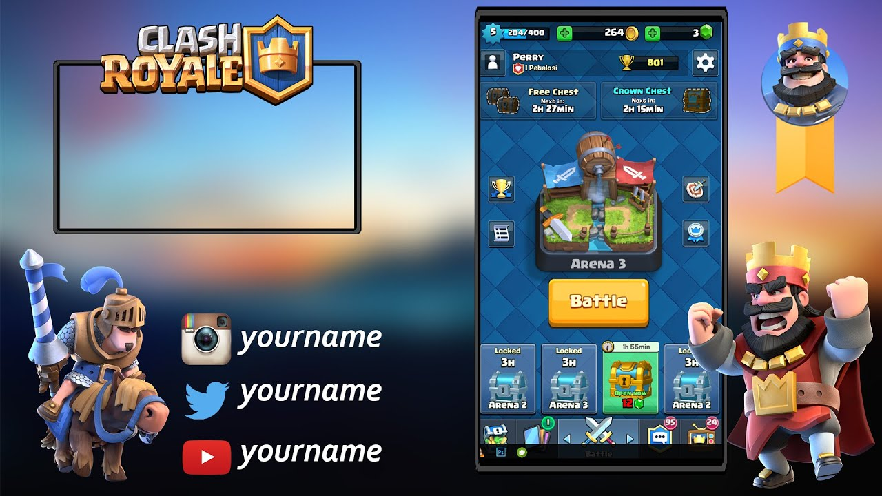 How To Make An Overlay For Clash Royale Videos Template Download