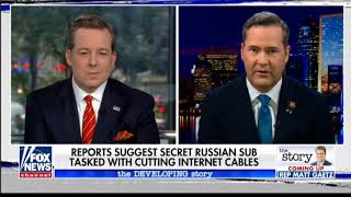 Rep. Michael Waltz: Russian Sub Evidence of Growing Threat to Global Communications, Economy
