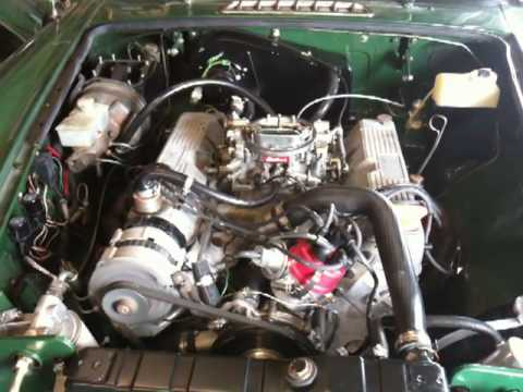 The new Rover V8 in my MGB - Starting for the first time