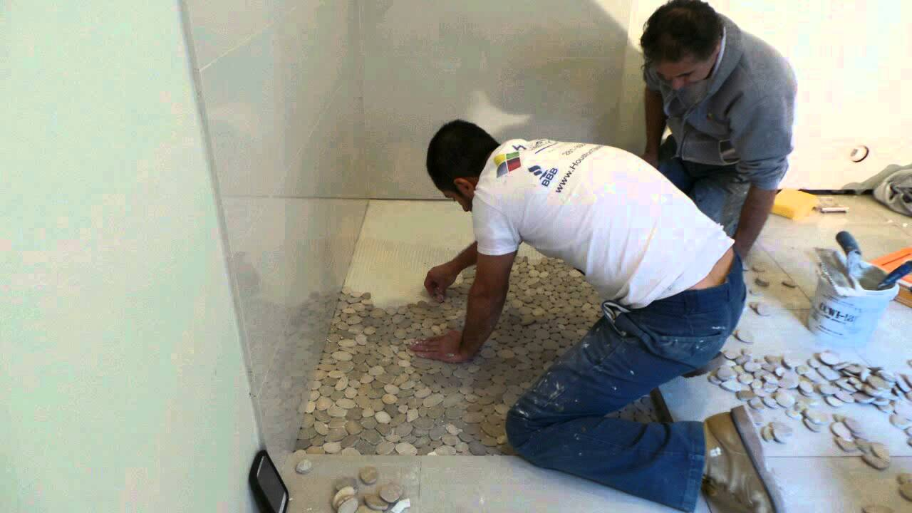 Shower Floor Pebble Stone Time Lapse.   YouTube