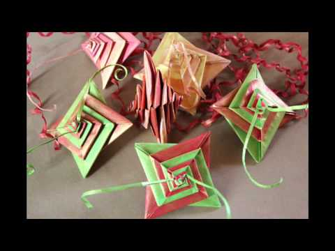 D co no l origami youtube - Decoration de noel origami ...