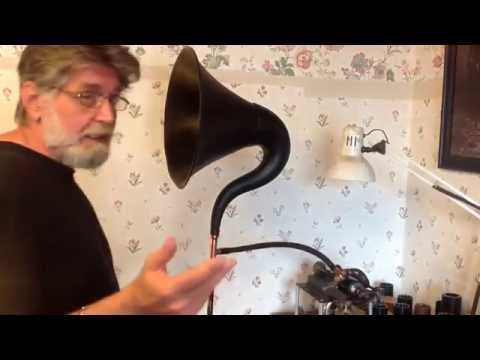 edison cylinder recording using a radio horn