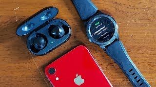 Living With Samsung Galaxy Buds & Gear S3 Frontier: With An iPhone?