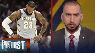 Nick Wright: LeBron looks dispirited this month | FIRST THINGS FIRST
