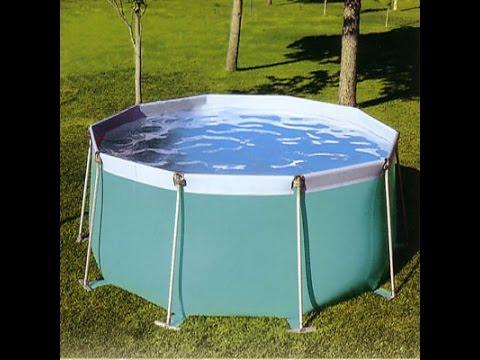 como hacer una piscina facil y barata youtube