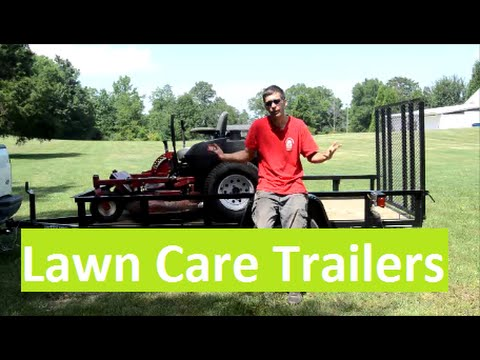 Utility Trailers for Lawn Care Business