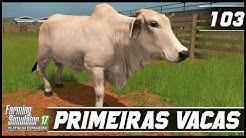 COMPRANDO AS PRIMEIRAS VACAS NA FAZENDA!   FARMING SIMULATOR 17 PLATINUM EDITION #103   PT-BR  