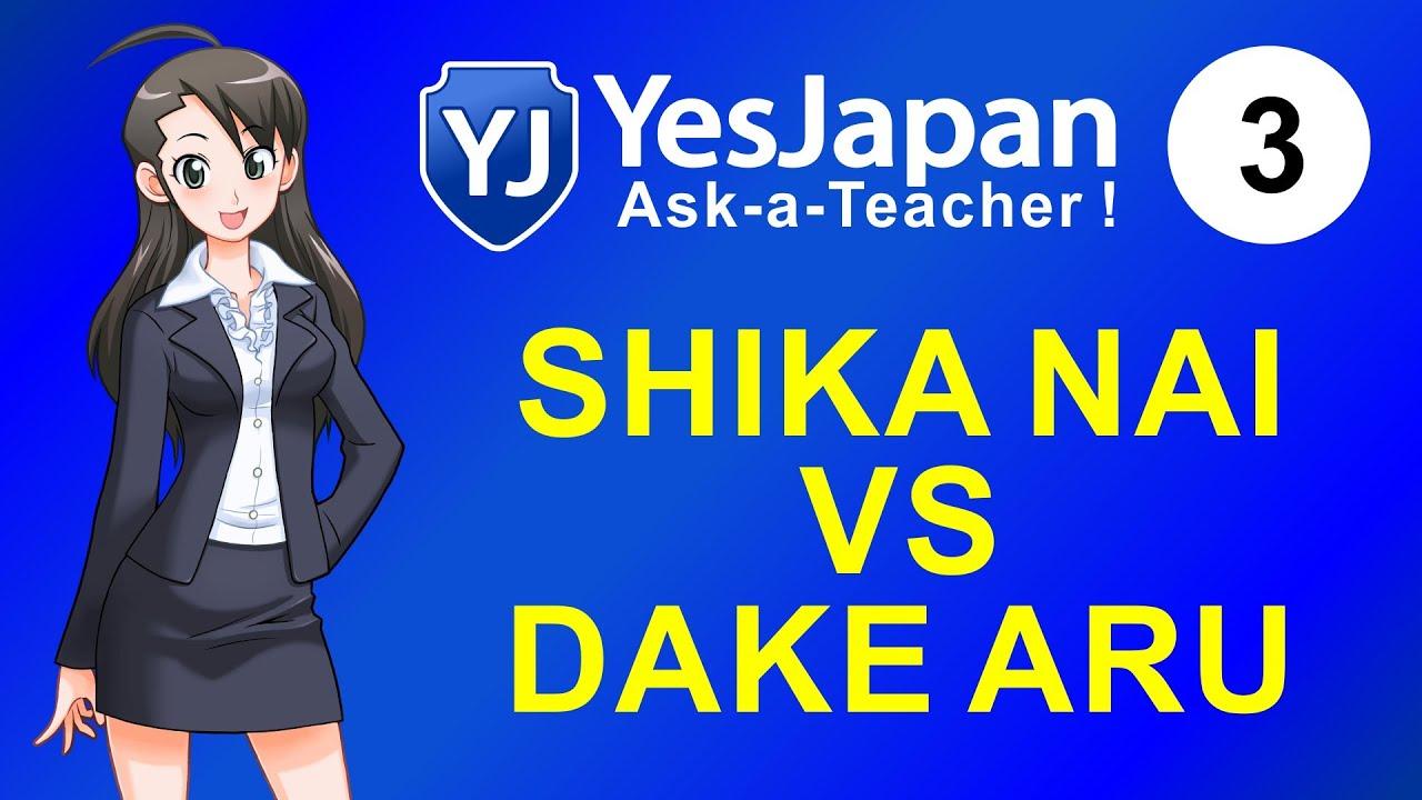 Japanese Lesson 3 - SHIKA NAI vs DAKE ARU