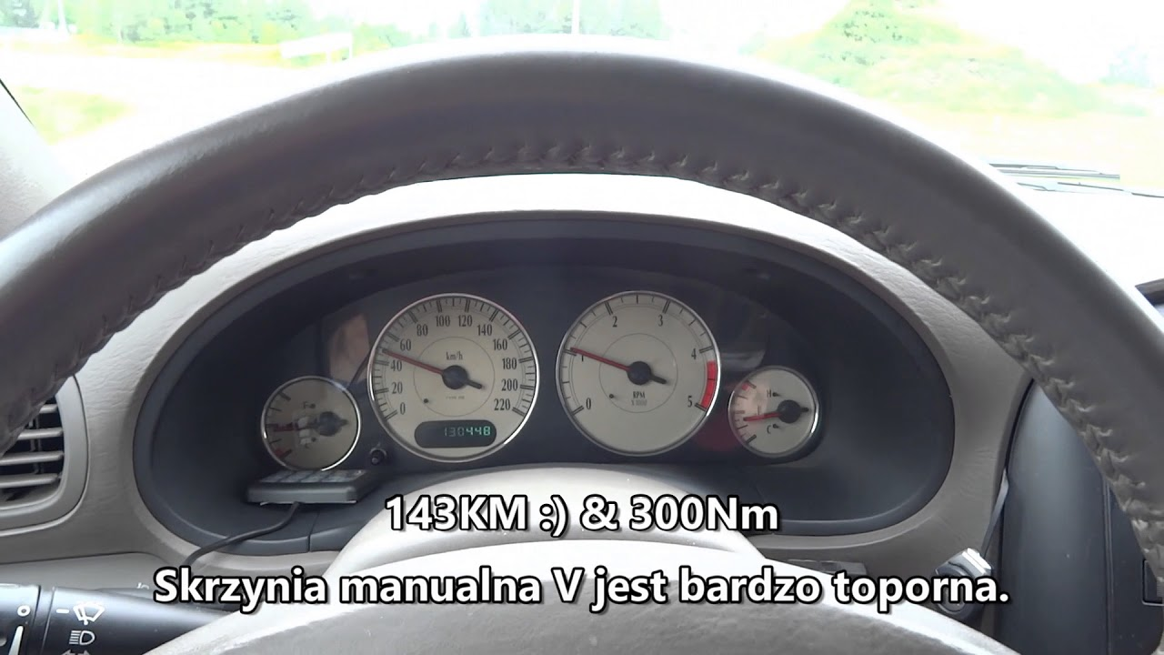 2003 Chrysler Grand Voyager 2.5 CRD 0-100 km/h Acceleration TEST