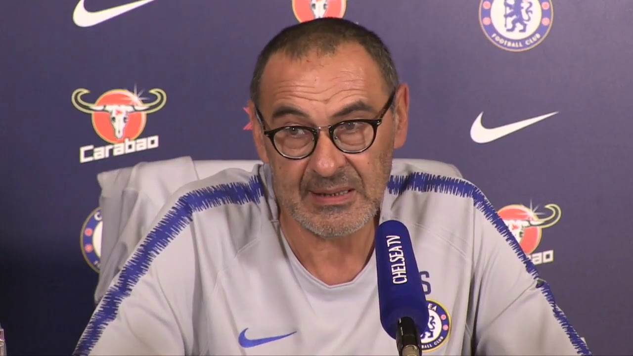 Image result for maurizio sarri press conference vs Newcastle