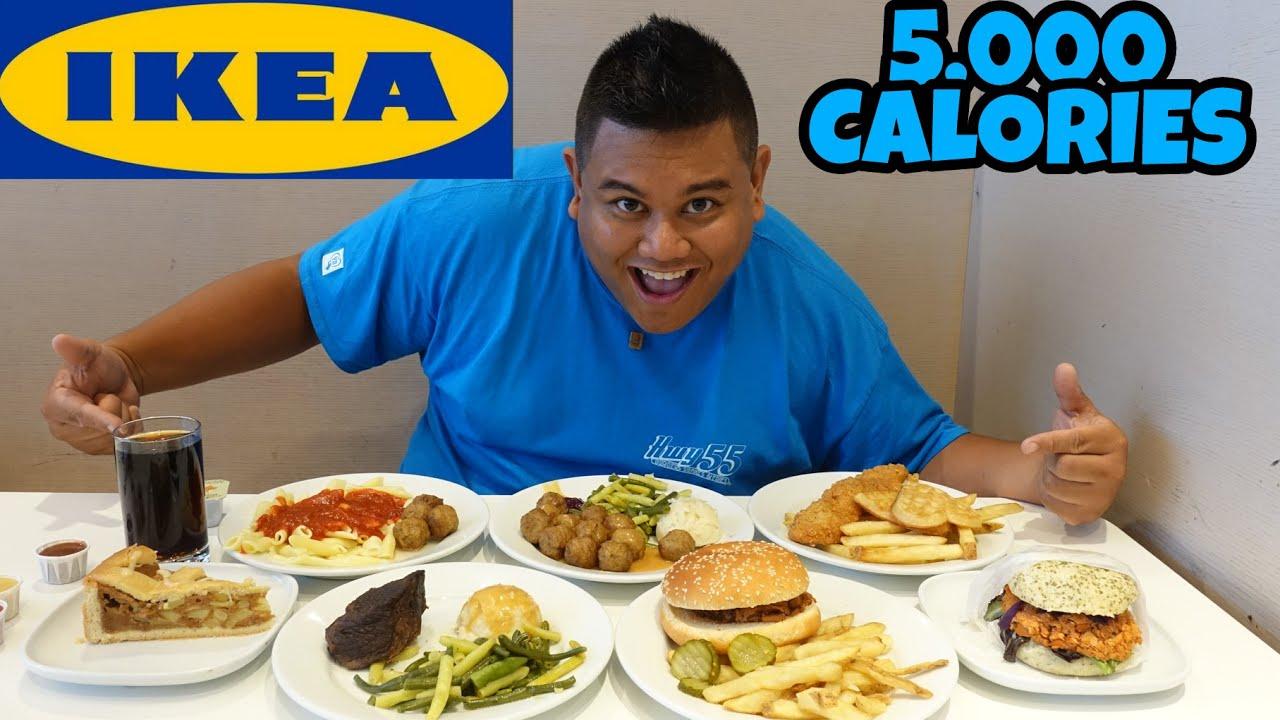 ikea 5000 calorie food challenge youtube
