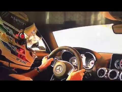 Lewis Hamilton  drives the safety car Monaco GP 2017