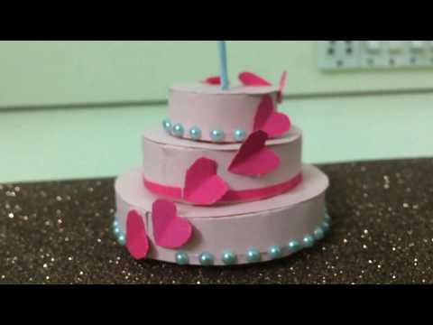 Paper Cake Tutorial| Easy & Simple way to make Cake for Explosion box (Birthhday Gift)