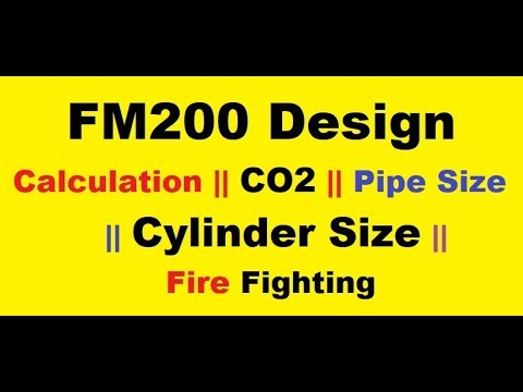 FM200 Design || Calculation || CO2 || Pipe Size || Cylinder Size || Fire Fighting ||Urdu / Hindi