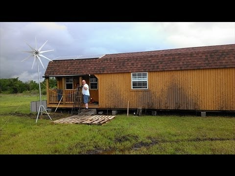 off grid tiny house tour solar power wind power youtube. Black Bedroom Furniture Sets. Home Design Ideas