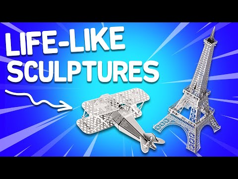 DIY Laser-Cut 3D Sculptures (Titanic, Eiffel Tower, Ferris Wheel, and more)