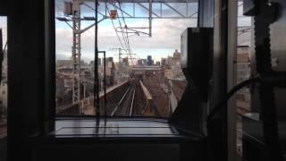 ワイパーサービス?JR西日本323系  LS02編成 (普通大阪環状線外回り) 西九条入線