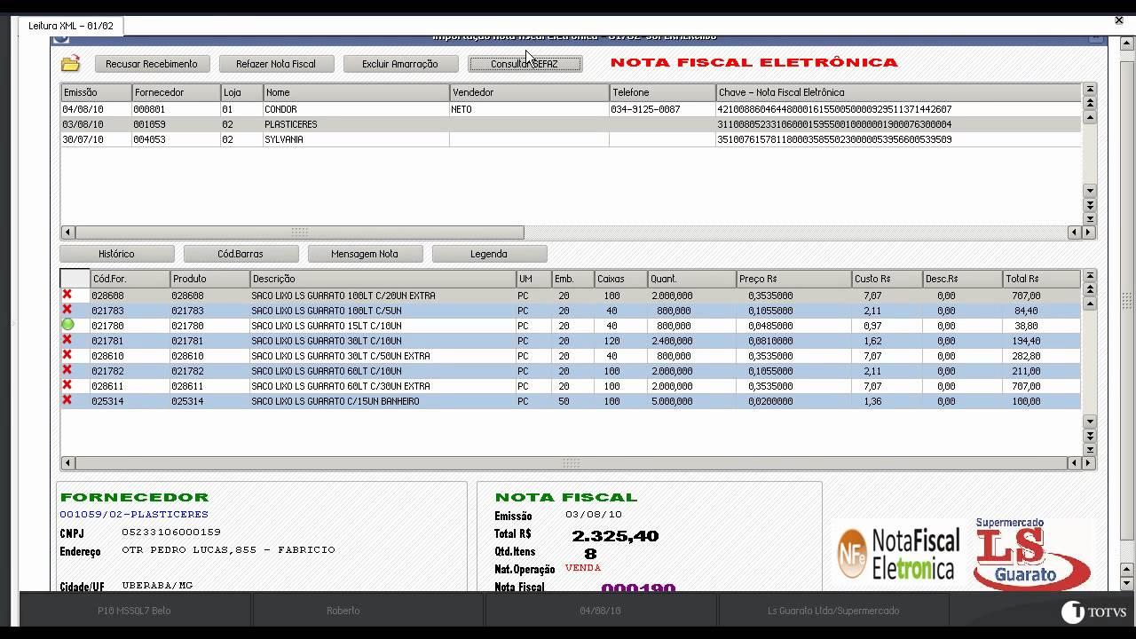 Importa 231 227 O Nota Fiscal Eletronica Xml Fornecedor