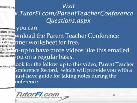 Parent Teacher Conference Questions