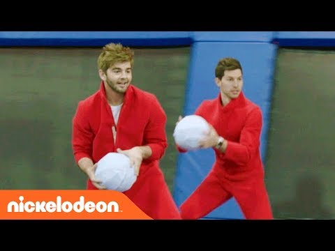 The Dude Perfect   Jack Griffo Joins for a Game of Trampoline Dodgeball  Nick
