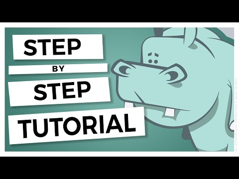 Adobe Illustrator Cartoon Tutorial: Simple Hippo Cartoon