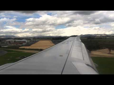 Lan Airlines (One World) LA3193 MTR-BOG Approach, Turbulence, Landing and Parking Brakes