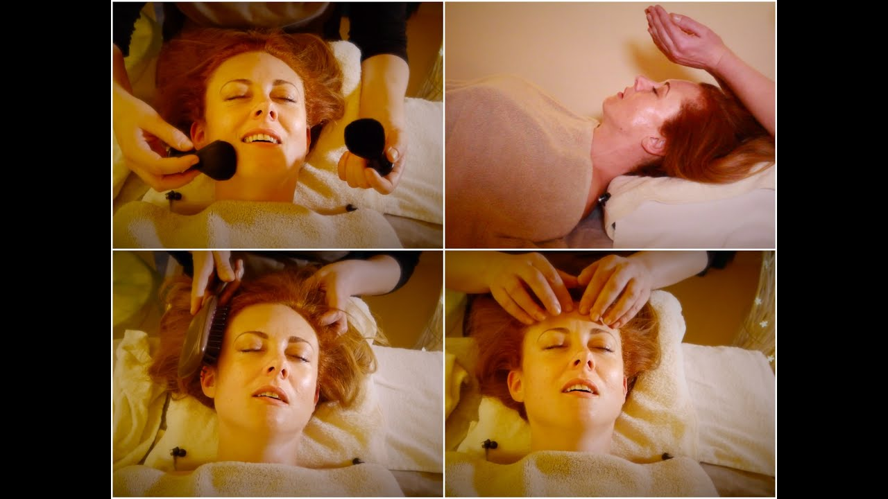 A Real ASMR Massage Treatment In London UK ✨ Face Massage, Tapping, Hair Brushing