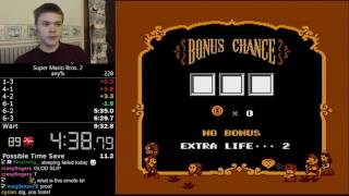 (9:08) Super Mario Bros. 2 any% speedrun