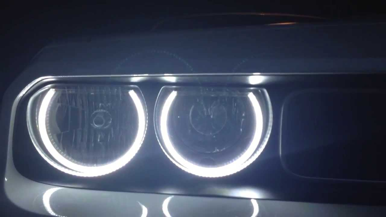 Dodge challenger 50 led halos youtube dodge challenger 50 led halos publicscrutiny Images