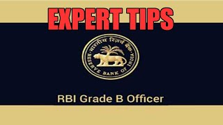 competitive exam preparation rbi grade b expert tips