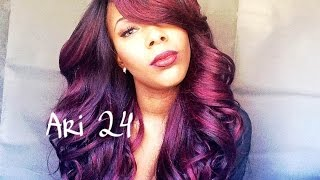 Zury Sis Ari 24 Lace Wig (Sombre RT Burgundy)
