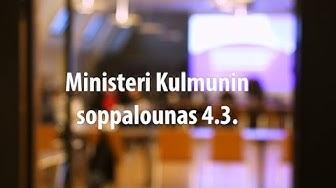 Valtiovarainministeri Katri Kulmunin soppalounas 4.3.2020