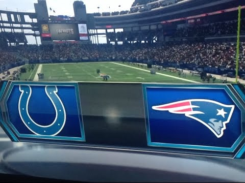 2015 AFC Championship Game Colts Vs Patriots Simulation With Madden 15 Next Gen
