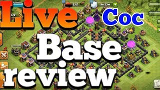 Clash Of Clans Live Base Review | Coc Live stream | Clash of clans