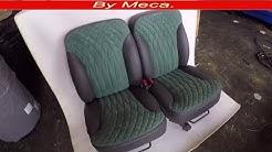 How to Make Custom Seat Covers Fade Out Diamonds DIY. home made.