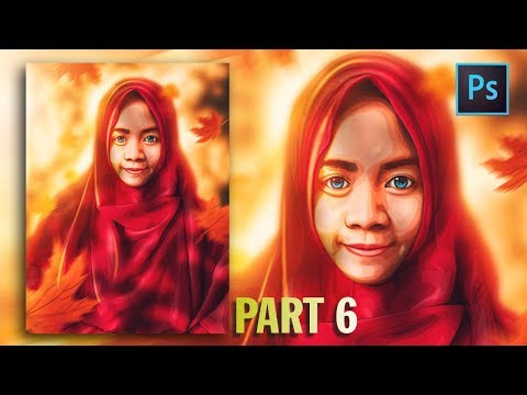 [Photoshop Tutorial] HOW TO CREATE VECTOR/VEXEL HIJAB IN PHOTOSHOP [PART 6- HIJAB] thumbnail