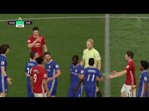 FIFA 17 Manchester United vs Chelsea partido de ida tercera parte